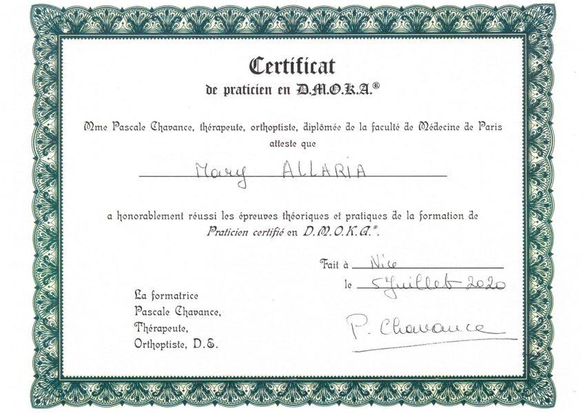 Certification DMOKA